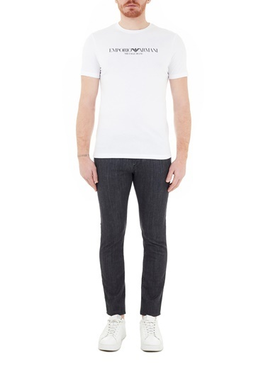 Emporio Armani  Slim Fit Pamuklu J06 Jeans Erkek Kot Pantolon 3K1J06 1D5Pz 0006 Siyah